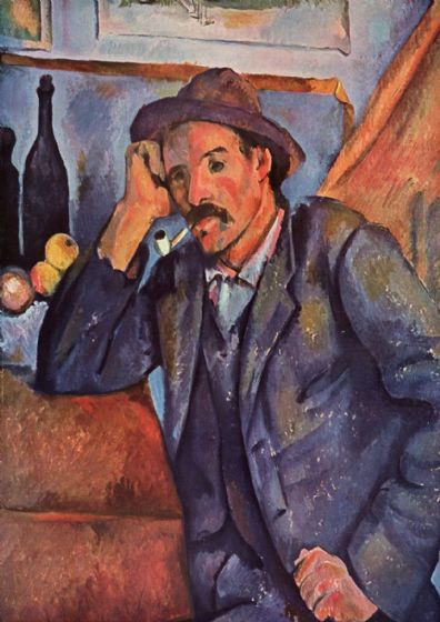 Cezanne, Paul: Man Smoking a Pipe. Fine Art Print/Poster. Sizes: A4/A3/A2/A1 (001785)